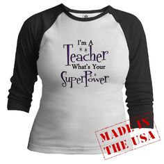 Gifts for teachers - Super Teacher Jr. Raglan    I need this!