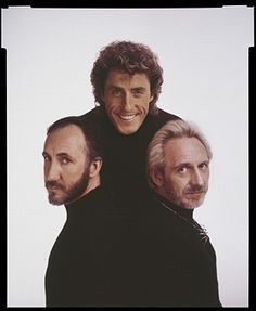 Pete Townshend, Roger Daltrey and John Entwistle (1944 - 2002) of The Who, New York, May 1989.