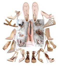 """Nude Shoe Love"" by creation-gallery ❤ liked on Polyvore featuring Tom Ford, Jimmy Choo, Valentino, Christian Louboutin, GUESS, Miss KG, Gianvito Rossi, Aquazzura, Chinese Laundry and Nude"