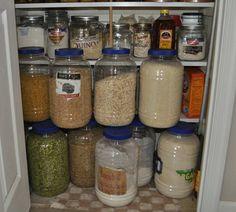 Dry Foods Stored in the Kitchen Pantry
