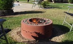 Make a DIY fire pit in your backyard