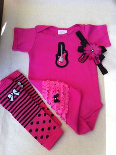 Rock Star Baby Onsie w Bling by solcreator on Etsy, $30.00