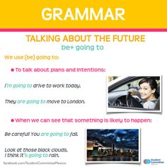 Grammar: Talking about the future - When to use 'be+going to'