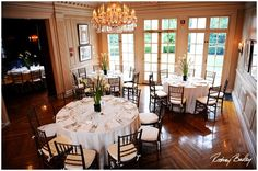 One benefit of a historic mansion is the intimate wedding reception setting. {The Mansion at Strathmore}