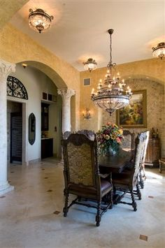 If you are having difficulty making a decision about a home decorating theme, tuscan style is a great home decorating idea. Many homeowners are attracted to the tuscan style because it combines sub… Tuscan Style Bedrooms, Tuscan Style Homes, Tuscan House, Luxury House Plans, Luxury Homes Dream Houses, Dream Homes, Style Toscan, Tuscany Decor, World Decor