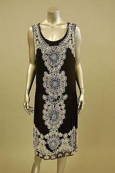 A beaded Art Deco evening dress circa 1928