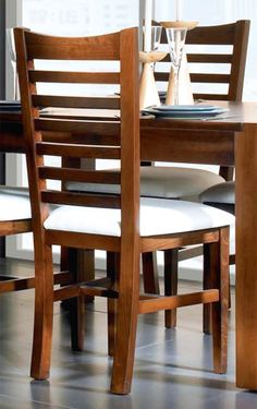 Classic wooden back chair - pine Dinner Tables Furniture, Dining Room Furniture Design, Dinning Table Design, Cafe Chairs, Dining Table Chairs, Wooden Chair Plans, Chair Design Wooden, Sheesham Wood Furniture, Wooden Furniture