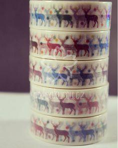 Washi páska s jeleny - http://www.podsakurou.cz/washi-pasky/vanocni-atmoska-s-jeleny/