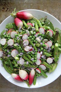 Avocado, Asparagus, Pea and Radish Sesame Salad @Heather Creswell Creswell Christo