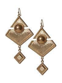 Hive & Honey Cabachon Diamond Shape Drop Earring