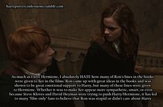 AGREED. this bothers me so much, especially when it's in the beginning and about wizarding stuff that she wouldn't have known