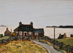 British Artist David BARNES - Cottage near Aberdarren
