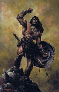 m Barbarian Shield Sword wilderness Conan The Barbarian