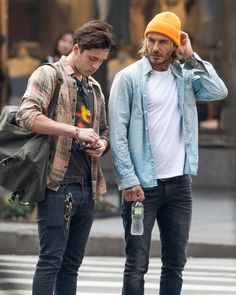 Proud Dad David Beckham Takes Pictures as He Drops Brooklyn Off at College in New York