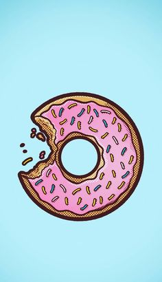 Imagen de donuts, wallpaper, and pink