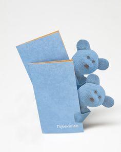 """""""Little blue bear"""" Invitation by Kalliopi Vgontza, via Behance"""