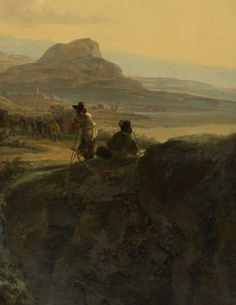 Italian Landscape with a Draughtsman, Jan Both, c. 1650 - c. 1652 - Landscapes - Works of art - Explore the collection - Rijksmuseum