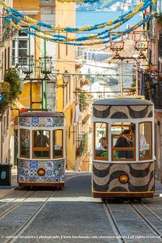 Lisbon Portugal has beautiful trollies you can use to go see many of the major historic sites #lisbon #portugal #beautifulplaces @eroticpt.