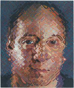 "Paul (Simon), 2011 by Chuck Close, Oil on canvas; (Portrait detail of his right eye used as album cover on Simon's solo album ""Stranger to Stranger"" issued in June, Chuck Close Portraits, Old Portraits, Modern Portraits, Chuck Close Art, But Is It Art, Paul Simon, Abstract Portrait, Photorealism, Arts And Entertainment"