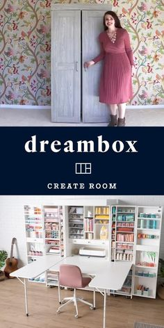Sewing Room Design, Craft Room Design, Home Room Design, Sewing Studio, Study Room Decor, Bedroom Decor, Craft Room Decor, Bedroom Wall, Home Crafts