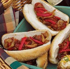 broil king Sausage on a Bun With Caramelized Onions and Peppers recipe