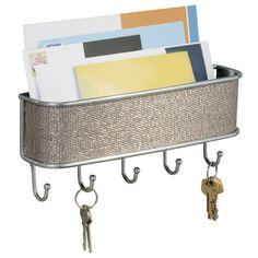 Key Holder Rack Letter Organizer Mail Box Door Hanger Storage Wall Mount Hooks