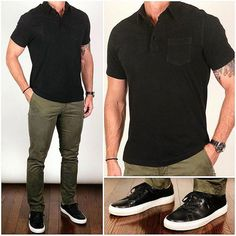 Hanging with the Guys Just because you're hanging with your friends doesn't mean you can't look stylish too❗️ This is a simple outfit to put together, it's super comfortable, and you'll look great for a night out. Do you like this look❓ Stylish Mens Outfits, Business Casual Outfits, Simple Outfits, Mens Fashion Blog, Fashion Outfits, Fashion Ideas, Men's Fashion, Casual Wear, Men Casual