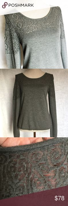 """☀️30% OFF 3☀️NWT Knitted & Knotted Gray Top NWT Amazing sweater. Bust about 33.5"""" and length about 22.5"""". #8502576 Anthropologie Tops"""