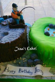 60th birthday, fisherman cake