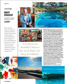 Originally published in Business Day's Wanted Magazine (August View the pdf here: Concierge Maya Khuluse Kwazulu Natal, Concierge, My Job, Maya, Writing, Nature, Travel, Naturaleza, Trips