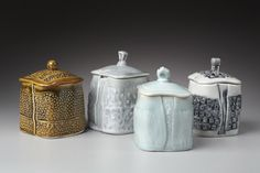 Marion Angelica Hand built slab porcelain pottery