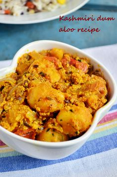 {New post} Kashmiri dum aloo recipe: Very easy to make quick and delicious side dish with baby potatoes. Baby potatoes simmered in delicious curd based gravy,recipe @ http://cookclickndevour.com/kashmiri-dum-aloo-recipe