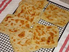 Msemen Recipe - Square-Shaped Moroccan Pancakes (Rghaif) ~ Ramadan Recipes ♥ had these in Marrakech and they are awesome! Morrocan Food, Moroccan Dishes, Moroccan Recipes, Moroccan Bread, Moroccan Breakfast, Persian Recipes, Algerian Recipes, Ras El Hanout, Ramadan Recipes