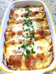 Cheesy Chicken Enchilada Bake | This flavorful dish combines cooked chicken breast with Clover Organic Sour Cream and Shredded Three Cheese Mexican Blend in a south-of-the-border inspired one dish supper that comes together without a lot of fuss. Served alongside a simple tossed green salad this delicious bake is destined to become a regular favorite on the dinner table. @cloverstornetta