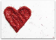maybe not with glitter, but I like the offset heart.  Have just the spot for this....