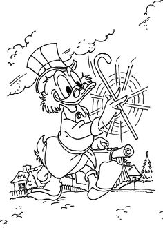 Scrooge coloring pages for kids, printable free