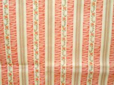 Vintage 1940s Floral Fabric with pink Roses by nanascottagehouse