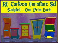 RE Cartoon Furniture Set - Fun Decorations!