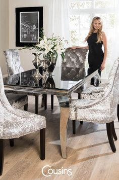 Silver Room Contemporary Dining Sets Conference Upholstered Chairs French Farmhouse Living Designs Table Rooms