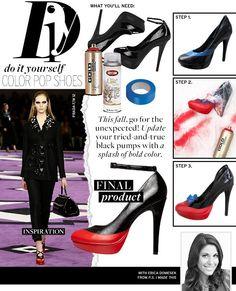 DIY Shoes Refashion: DIY shoe makeover