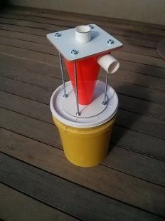 Dust Cyclone Homemade dust cyclone constructed from a sports cone, a bucket…