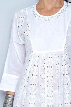 White Kurta, Bell Sleeves, Bell Sleeve Top, Faux Wrap Dress, Men's Fashion, Ideas, Dresses, Women, Stylish Dresses