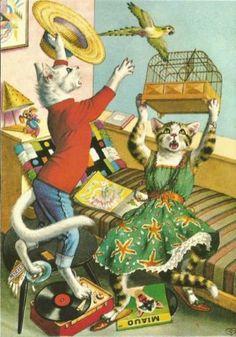 6 Alfred Mainzer Dressed Cats, PostcardS | eBay