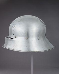 Sallet Date: ca. 1480 Culture: German Medium: Steel, leather Dimensions: H. 8 3/4 in. (22.2 cm); W. 10 3/8 in. (26.4 cm); D. 14 1/2 in. (36.8 cm); Wt. 6 lb. 6 oz. (2892 g)