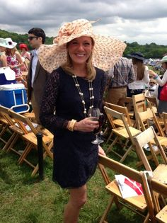 Great Hat!  Love the dress and necklace too! Steeplechase fashion Iroquois Steeplechase 2013
