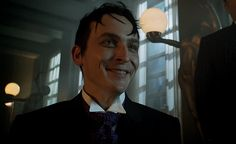 Oswald pleading with Theo for the release of his mother. Riddler Gotham, Gotham Villains, Anthony Carrigan, Jerome Gotham, Sean Pertwee, Penguin Gotham, Gotham Tv Series, Cory Michael Smith, Victor Zsasz