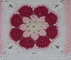 Afrikaanse bloemendeken / Gehaakte dekens / Haak inspiratie | Bycristianne.jouwweb.nl