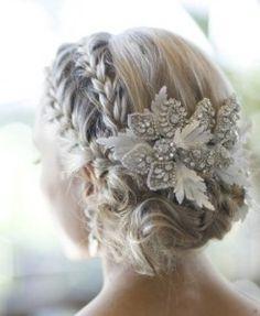 Brides Hair Handfastings Weddings:  Bridal braids and flowers.