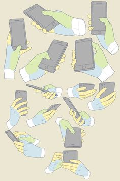 Holding A Phone Reference By Moa