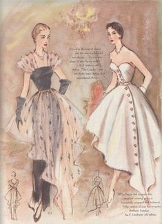 Vintage Sewing Patterns Modes Royale Pattern 1950 More - Vintage Dress Patterns, Vintage Dresses, Vintage Outfits, Vintage Clothing, 1950s Dresses, 1950s Fashion Dresses, Vestidos Vintage, Fashion History, Fashion Art